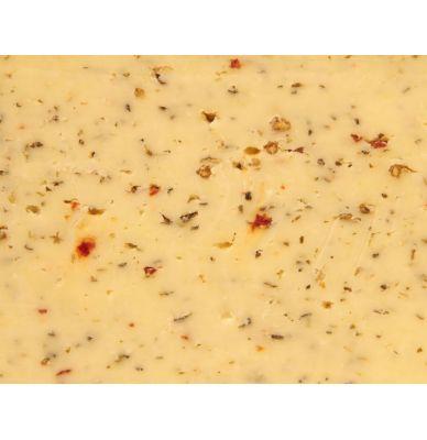 Syr gouda farmársky s bylinkami z Talianska, 48+ 5 - 6 týždňov zrejúci